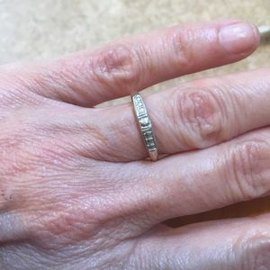 Vintage 14K Gold and Silver Band Delicate